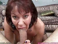 Big boobed lady Vanessa Videl wraps her lips aroun...