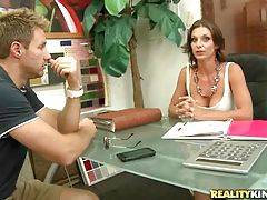 Pretty and horny whore is dreaming about her boss