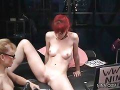 Adorable and cute Justine Joli is masturbating her...