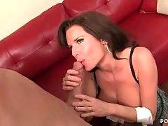 Amateur angel is doing nonstop titsjob in the room