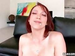 Redhead milf Nicki Hunter tastes cum after awesome...