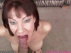 Vanessa Videl swallows lover`s spunk after hot blo...