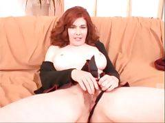 Awesome redhead milf Mae Victoria shows all her ch...